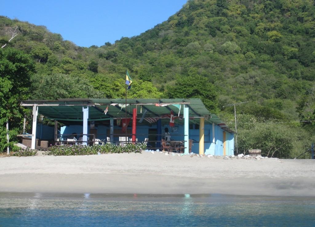 eine Hütte in der Chatham Bay