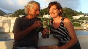 gemeinsames Bier zum Sonnenuntergang